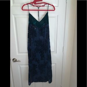 Intimately free people velour burn out dress